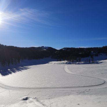 La boucle de ski de fond de Beuil