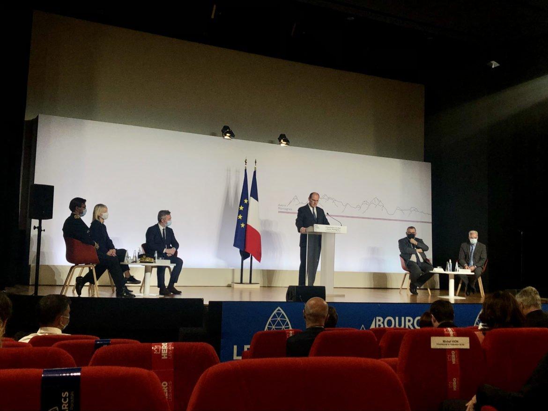 """Jean Castex lors de la présentation du plan """"Avenir Montagnes"""" à Bourg-Saint-Maurice en Savoie"""
