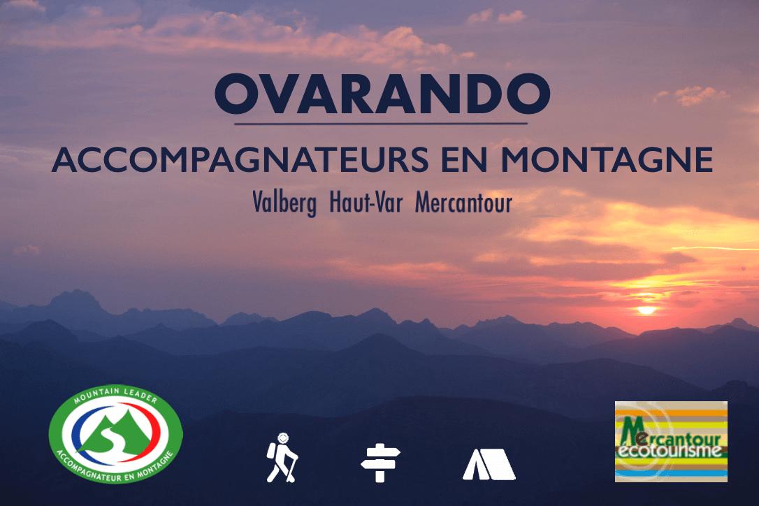 Notre invité de la semaine sur Oxygène est Hugo PADILLA accompagnateur en montagne et co-fondateur du bureau OVARANDO (avec Florian SASSIER) à Valberg. Cet été, beaucoup de randonnées sont proposées par OVARANDO notamment au départ de Valberg ou des alentours. Un programme mensuel avec au moins chaque semaine une sortie :