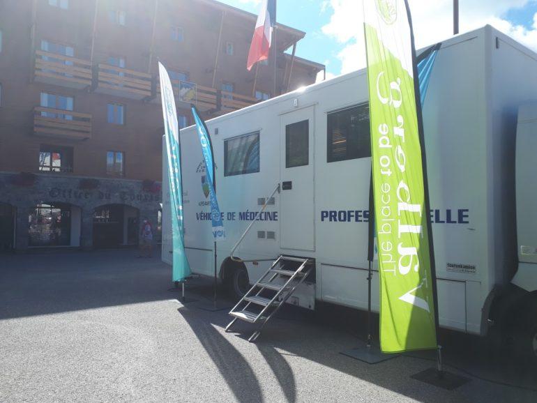 équipe mobile de vaccination du SDIS à Valberg